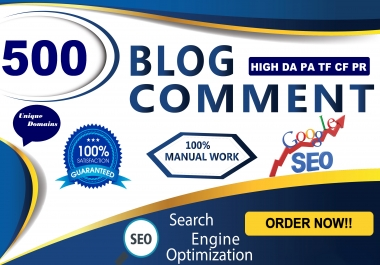 I Will Manually Provide 150 DoFollow Blog Comment Backlink High Authority