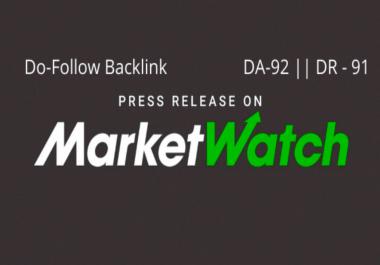 Publish A Guest post on marketwatch DA 92