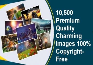 10,500 Premium Quality Charming Images 100% Copyright-Free