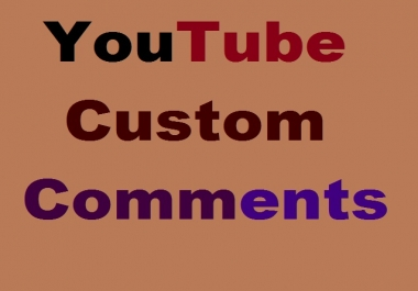 Custom Comments And Video Promotions Active User Super Fast .