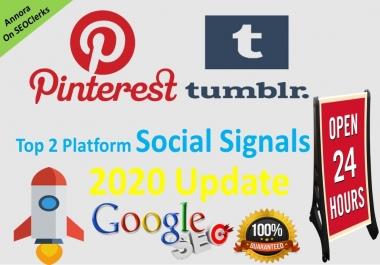300 Tumblr+300 Pinterest Powerful PR9 social signal share
