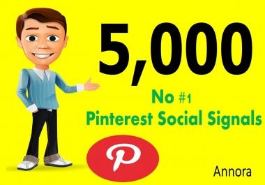 CHEAP OFFER 5,000 Real SEO Social Signals PR9 Pinterest Share No1 Social Media Bookmark