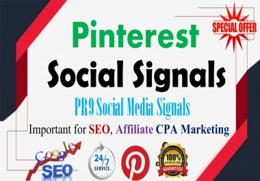 5,000 Pinterest LifeTime share social Signals important for SEO Ranking