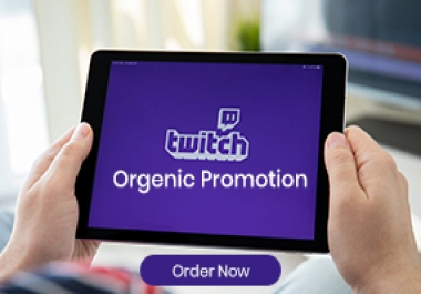 I Will Grow your twitch tv Account For 1000 Organic Follower