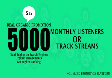 Do Promotion Your 5000+ Monthly Listeners And Music Track Streams