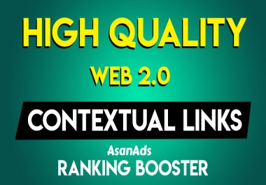 I will create Manually 25 High Authority Permanent Web2.0 Contextual Backlinks