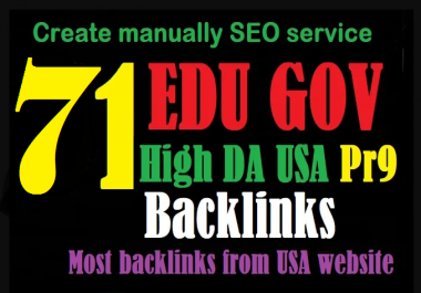 Awesome 71 Backlinks, 26 Edu Gov Backlinks With 45 Pr9 Backlinks