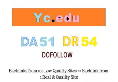 Publish A Guest Post on Yc. edu - DA51 DR54