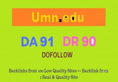 Guest Post on Minnesota University - Umn. edu DA91 DR90 10$