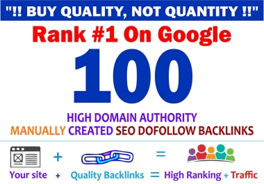 premium 100 high quality SEO dofollow backlinks