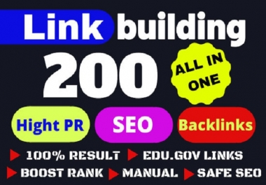 provide all in one 200 manual SEO link building package