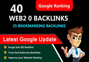 homepage 40 web 2.0 link building, 25 bookmarking SEO backlinks