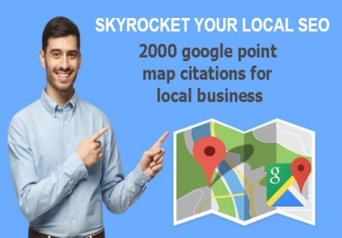 I will do 2000 google point map citations for local business