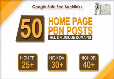 Create 50 high da pa tf cf homepage pbn backlinks permanent posts