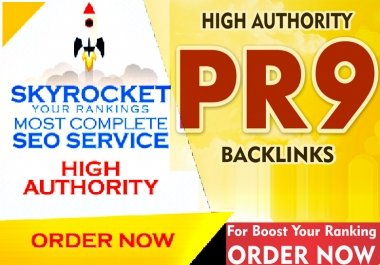 Homepage 20 seo backlinks from PR9 high authority domains