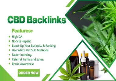 I Will Provide CBD Guest Post Links And Backlinks, CBD SEO, Marketing And Promotion