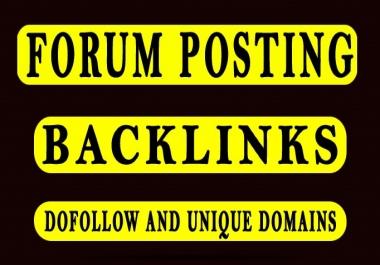 """""""I Will"""" Do Unique Forum Posting SEO backlinks"""