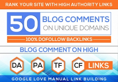 Do 50 trust flow blog comments backlinks