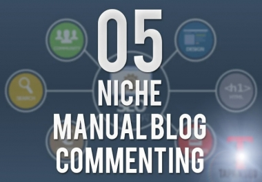"""""""I Will"""" Do 5 Dofollow Niche Manual Themed Blog Commenting"""