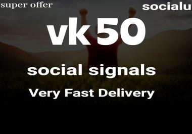 TOP No1 Social Media Best VK 50 SOCIAL SIGNALS With NUCLEAR SEO