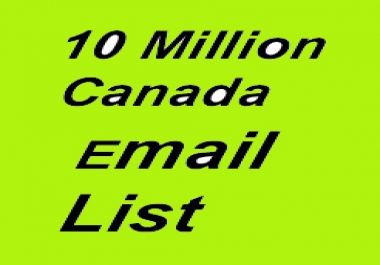 10 millions Canada Business Email List