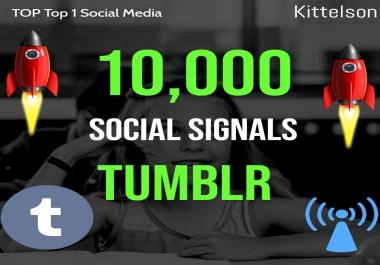 10,000 Tumblr Social Signals Come From Top 1 Social Media Sites