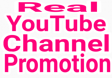 High Quality YouTube promotion via real and active users with fast delivery