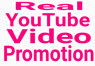 High Quality YouTube Video promotion via real human with fast delivery