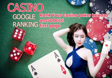 I will rank your casino, poker website first page on google gaurantee