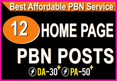 Homepage 12 PBN High 25 Plus DA Authority Expired domain Backlinks