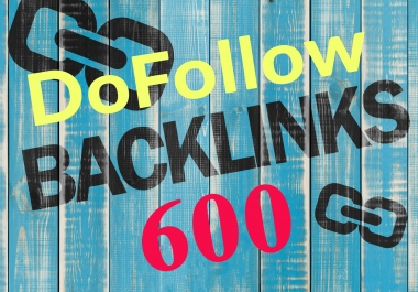 High Authority 600 Dofollow backlink rank for google