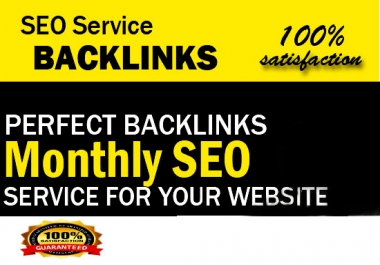 Deliver monthly SEO service, website for top google ranking