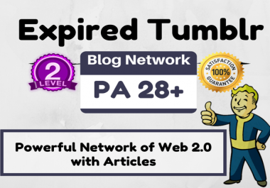 Register 20 Expired Web 20 Tumblr Blogs PA 32 Above Unique IPs Devices With Readable Content