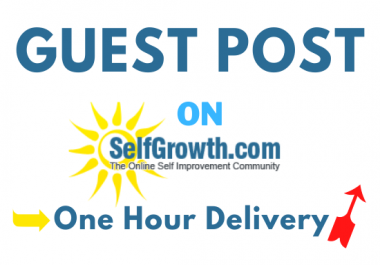 Guest Post on Selfgrowth to Boost Your Ranking