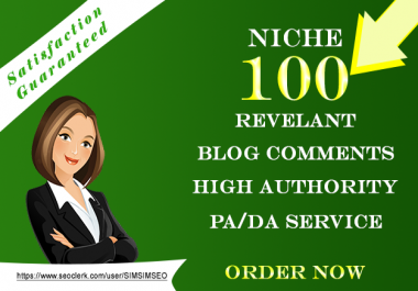 I will build 100 niche relevant blog coments for boost up your website