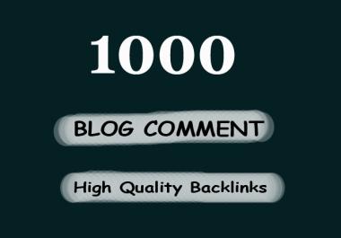 1000 Blog Comments Backlinks For Increase Link Juice And Faster Index on Google GSA SER Blast