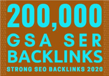 200,000 GSA SER SEO Backlinks For Page 1 Google Ranking Link Juice & Faster Index