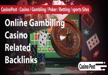 build 60 high pa da tf cf Poker Online Pbn Backlinks Quality Links