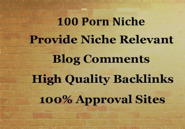 Build 100 Porn Site Related Niche Blog Comments Backlinks