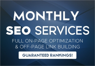 monthly SEO service, on and off page optimization for google top ranking