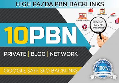 10 PBN Homepage Posting High DA PA Backlinks