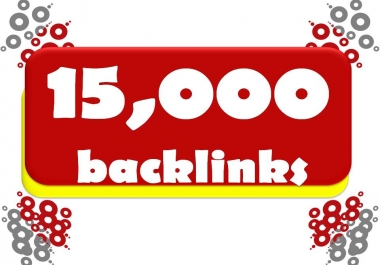 15,000+ high quality live SEO backlinks