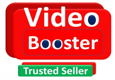 Boost your video with Real audience and get best quality Service.