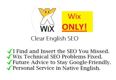 I will fix your wix SEO and advise you in plain english