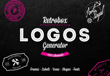Logo generator PACK 800+ icons and elements
