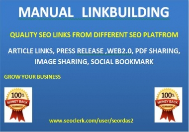 Manual create linkbuilding for your website