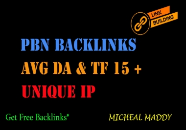 Post On 5 PBN Backlinks With Avg DA And TF 15+