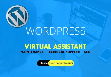 WordPress virtual assistant, maintenance, technical support, on-page seo