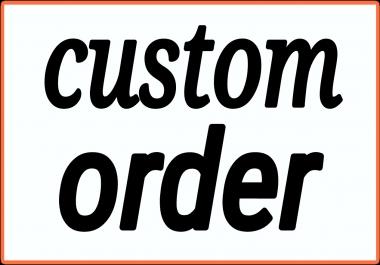 Custom offer for my seoclerk all buyers