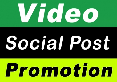 High Quality Video and Post Promotion with Instant Start and Fast Delivery Social Media Marketing